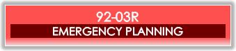92-03R -Emergency Plan