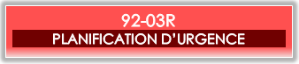 92-03R -Planification d'urgence