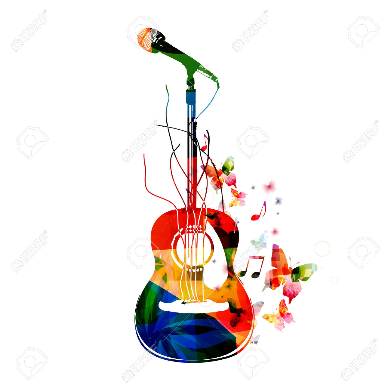 39562117-Colorful-guitar-background-Stock-Vector-guitar-music-musical