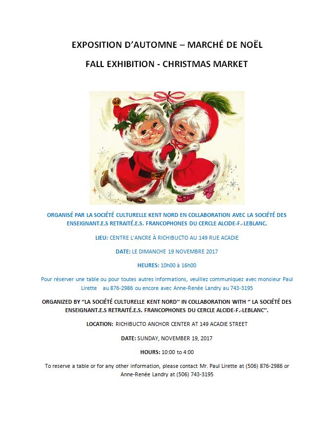 11- Fall Exhibition-Xmas Market -Nov. 19