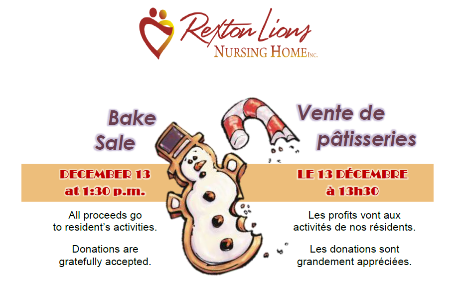 12- RLNH Bake Sale -Dec 13