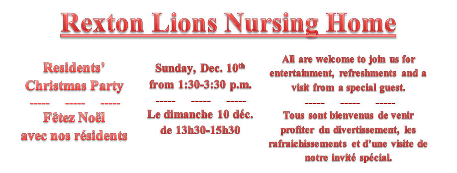 12- RLNH Resident's XMAS party -Dec. 10