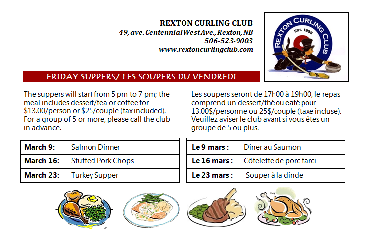 3- CurlingClub MarchSuppers