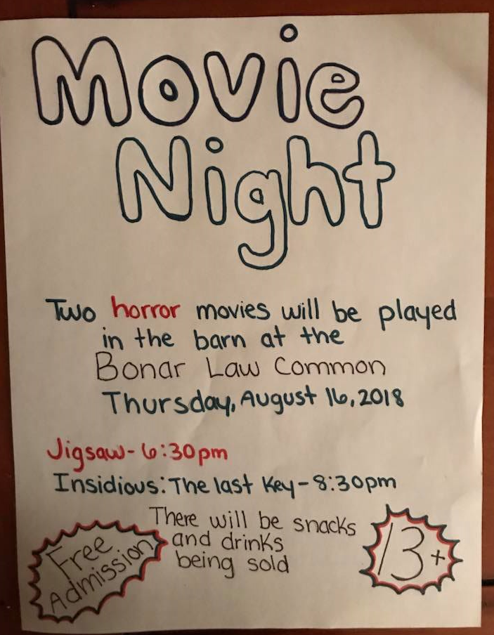 8- Horror Movie Night 16.08.2018