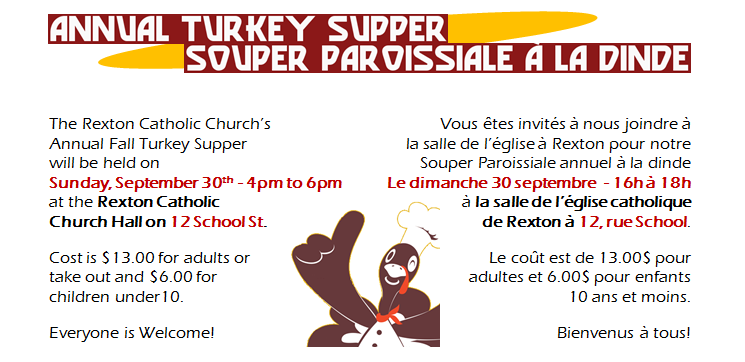 9- Turkey Supper -CatholicChurch-30.09.2018