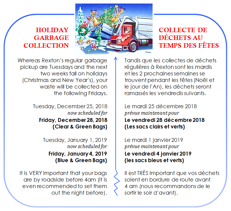 12 -Holiday Garbage Collections