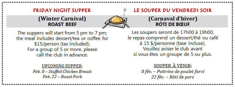 2- SUPPER -Feb 1.20192
