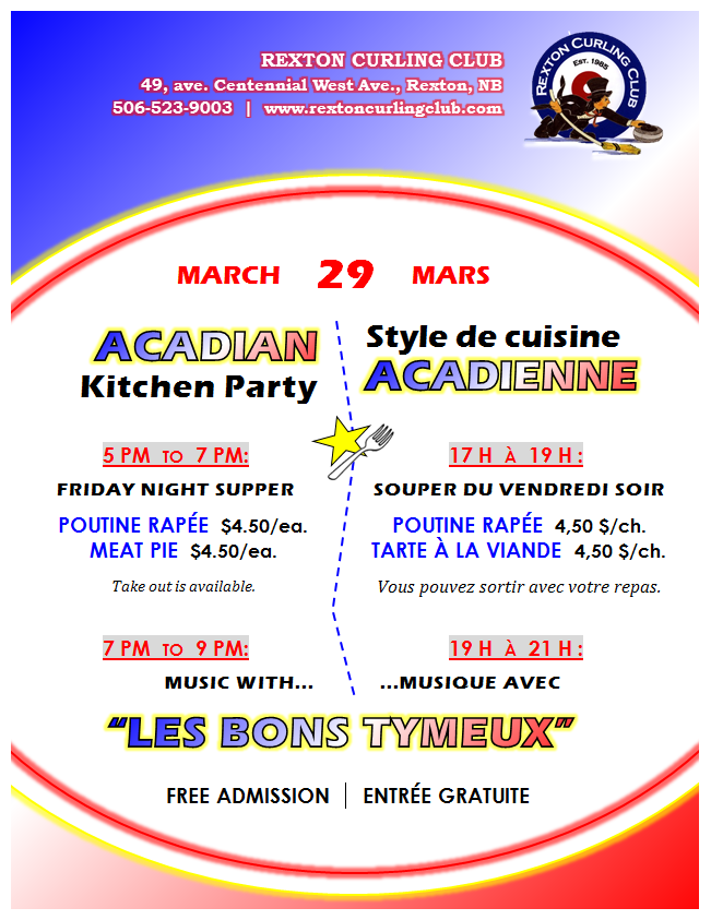 3- Acadian Supper & Music 29.03.2019