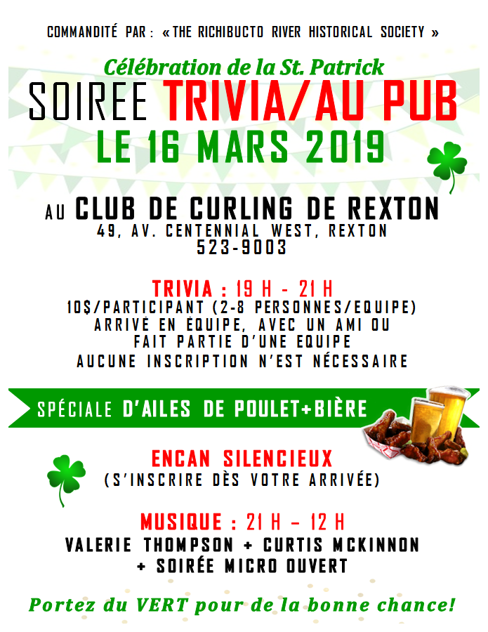 3- Trivia&Pub Night -FR- March 16