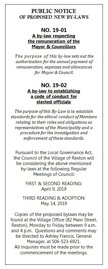 Public Notice - New By-Laws (EN)