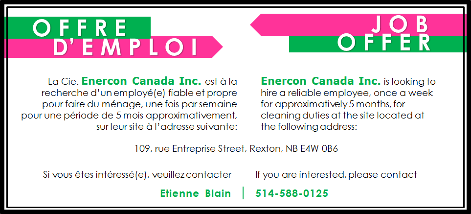 Offre d'emploi - Enercon Canada Inc.