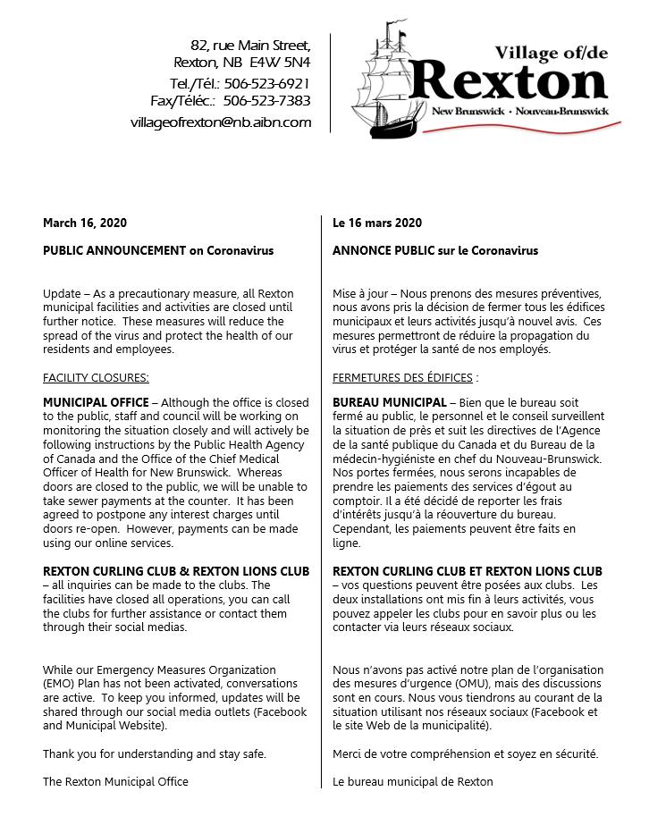 3- NOTICE COVID-19 16.03.2020